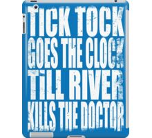 The Doctor's Song (WHITE) iPad Case/Skin