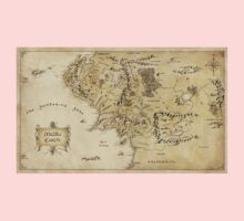 Middle Earth Map Kids Clothes