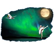 Aurora ballerina in the moon light Photographic Print