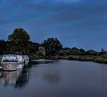 River Bure Coltishall at twilight by Avril Harris