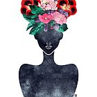 Floral Hair Silhouette (0002) by TabithaBianca