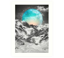 It Seemed To Chase the Darkness Away (Guardian Moon / Winter Moon) Art Print
