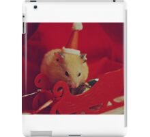 I am your little Santa Hamster  iPad Case/Skin