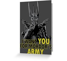 Mordor´s Army Greeting Card