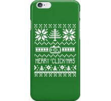 Ugly Christmas Sweater - Camera / Merry 'Click'Mas iPhone Case/Skin