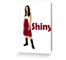 River Tam - Shiny (dark) Greeting Card