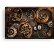Steampunk - Abstract - Time is complicated Canvas Print