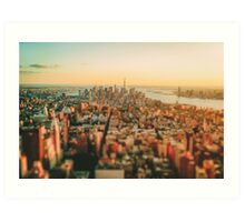 New York City - Skyline at Sunset Art Print