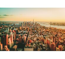 New York City - Skyline at Sunset Photographic Print