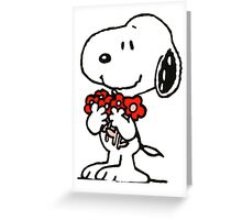Snoopy Flowers Greeting Card