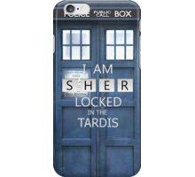 Sherlocked in the Tardis  iPhone Case/Skin