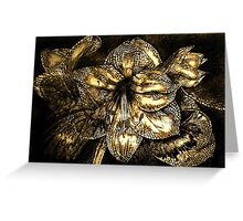 Iron Butterfly - Gold Greeting Card