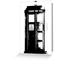 Tardis Noir Greeting Card