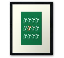 LOOK! It's Rudolph! v2(Green) Framed Print