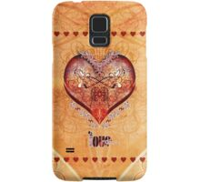 LOVE HEART - Natural Samsung Galaxy Case/Skin