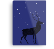 Stag grazing on the stars Metal Print