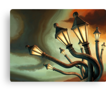 Drunk Streetlamps Canvas Print