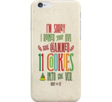 Buddy the Elf - 11 Cookies iPhone Case/Skin
