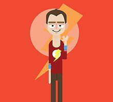 Sheldon - Big Bang Theory by Gary Ralphs