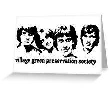 British Invasion - Village Green Preservation Society Greeting Card