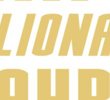 Genius Billionaire Playboy Philanthropist Sticker