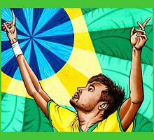 Neymar by Adam Campbell