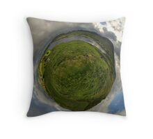 Teelin Bay from Roxborough fort, S. Donegal Throw Pillow