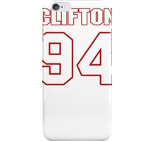 NFL Player Clifton Geathers ninetyfour 94 iPhone Case/Skin