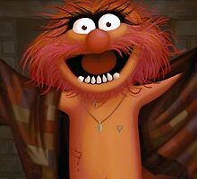 Muppet Maniacs - Animal as Buffalo Bill by GrimbyBECK
