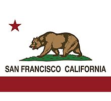 San Francisco California Republic Flag Photographic Print