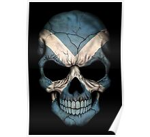 Scottish Flag Skull Poster