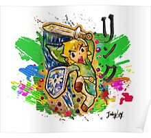 Epic Link Streetart Tshirts + More ' Legend of Zelda ' Poster