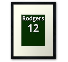 Aaron Rodgers 12 Framed Print