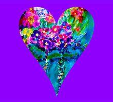 Floral Heart Designer Art Gifts by innocentorigina