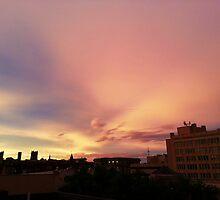Midwest city skyline by Ky Cochran