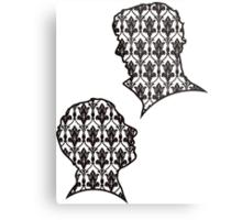 Sherlock Portraits - Wallpaper design Metal Print