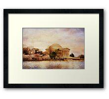 Jefferson Memorial Just Past Dawn Framed Print