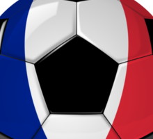 Allez Les Bleus - French Football & Text - Metallic Sticker
