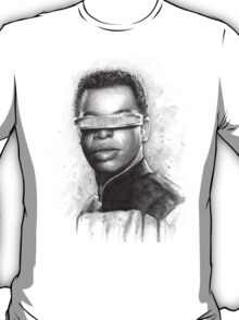 Geordi La Forge Portrait Star Trek Art T-Shirt