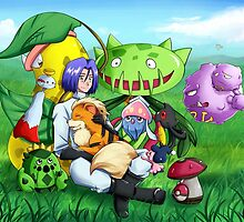 James and his Pokemon by angelsoma