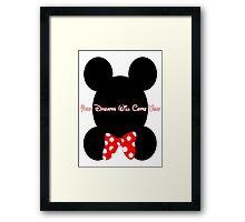 Mickey and Minnie Minimalist Design Framed Print