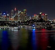 City Lights Across the Water - Sydney by TonyCrehan