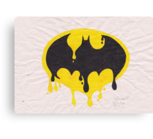 Dripping Batman Symbol Canvas Print