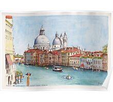 Grand Canal and Santa Maria della Salute, Venice Poster