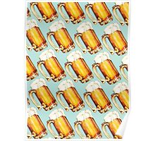 Beer Pattern Poster
