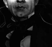 Bela Lugosi dracula - black and white digital painting Sticker