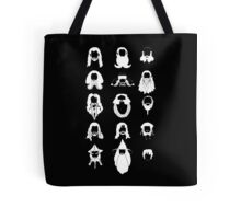 The Bearded Company White and Black Tote Bag