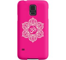 Pink Lotus Flower Yoga Om Samsung Galaxy Case/Skin