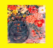 Flowers in Slate Vase Decor & Gifts by innocentorigina