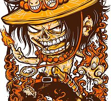 Ace of One Piece by Crab-Metalitees